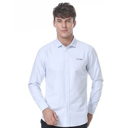 Light blue logo embroidered shirt