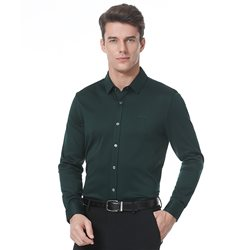 Military green formal shirt