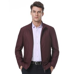 Deep red cropped jacket