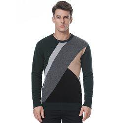 Crew neck colour block sweater