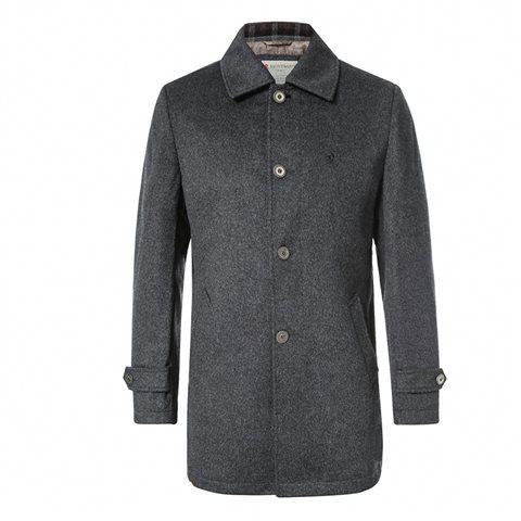 Deep grey topcoat