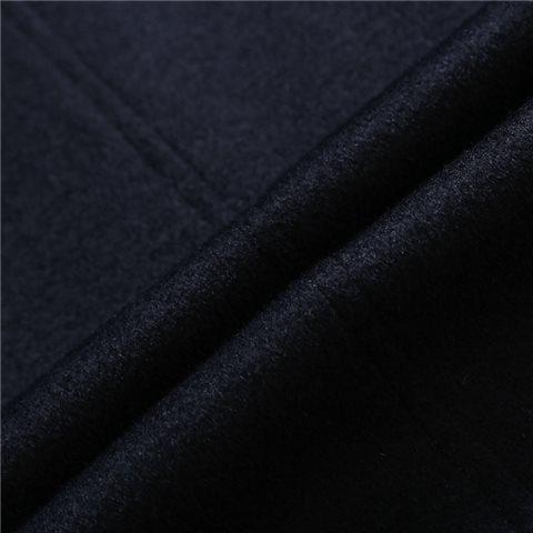 优雅简约羊毛海军蓝或深灰羊毛大衣