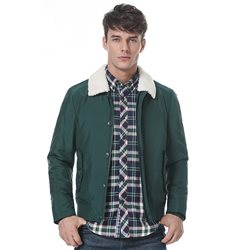 Sherpa collar bomber jacket