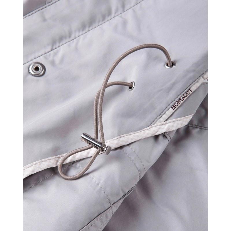 男士夹克 大身贴兜袋横线条腰带海军蓝或浅灰色外套 (1103172)